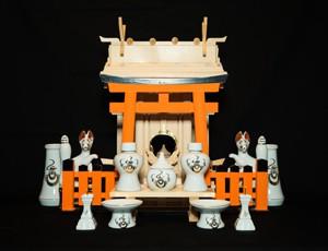 中式千木付宮(お稲荷様)セット